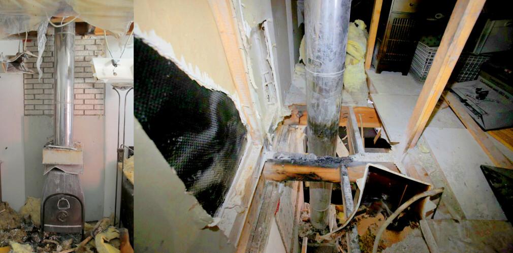 ADVARER: Nedre Romerike brann- og redningsvesen advarer mot denne typen pipe etter at den forårsaket husbrann. Foto: Nedre Romerike brann- og redningsvesen IKS