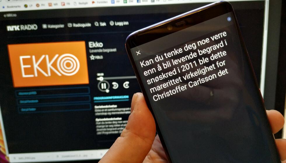 LAR DØVE HØRE PÅ RADIO: Google har lansert en app som lager automatiske undertekster på det som blir sagt i nærheten av deg. Foto: Pål Joakim Pollen