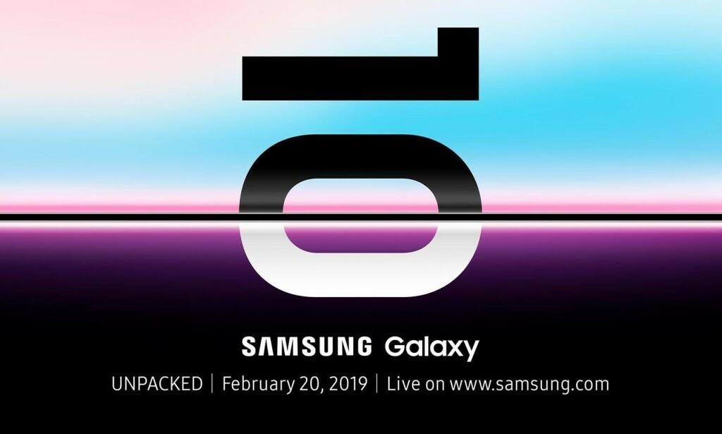 LEVNER LITEN TVIL: Du skal få ganske gode odds av oss på at Samsung ikke lanserer S10-modellene den 20. februar. Foto: Samsung