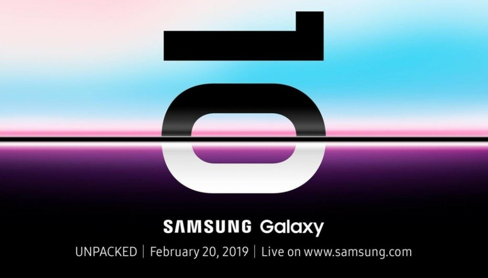 <strong>LEVNER LITEN TVIL:</strong> Du skal få ganske gode odds av oss på at Samsung <i>ikke</i> lanserer S10-modellene den 20. februar. Foto: Samsung
