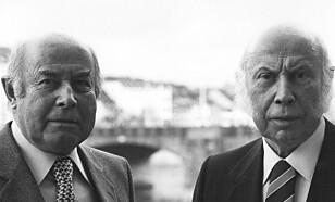 SAMLEMANI: Hans (t.v.) og Fritz Schlumpf kjøpte gjerne hele flåter av Bugatti-biler.