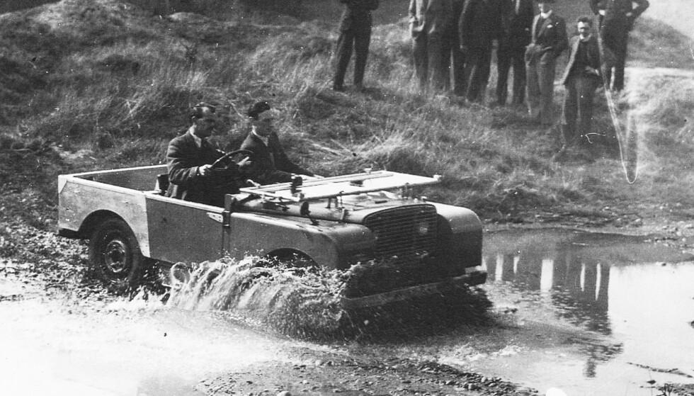 KONSEPTBILEN: 48 preproduksjons modeller av Serie 1 ble laget, med navnet «Huey». Foto: Land Rover