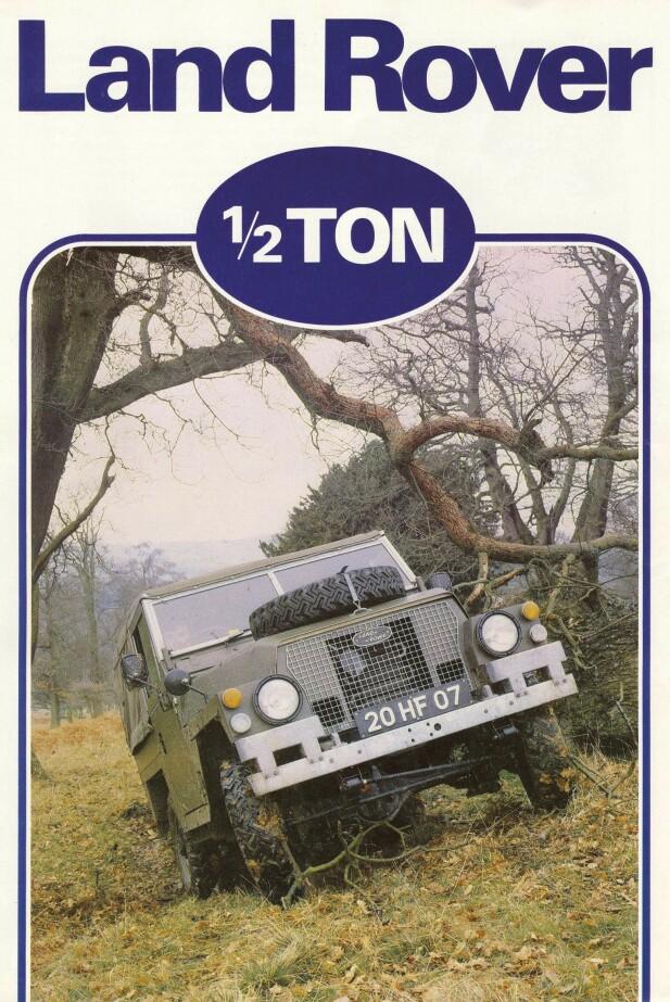 MILITÆRT BRUK: Land Rover måtte holde vekten ned for at militæret kunne frakte bilen enklest mulig. Foto: Land Rover