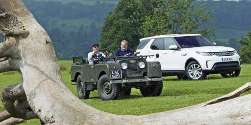 image: 70 år gammel Land Rover møter splitter ny