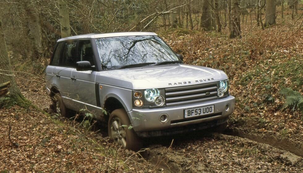 2002: RANGE ROVER. Den moderne æra begynner. Produsert under BMW med uavhengig luftunderstell og moderne antispin. Foto: Land Rover