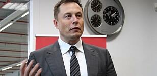 <strong>- LEGGER MERKE TIL DETTE:</strong> Kommunikasjonssjef Even Sandvold Roland i Tesla Norge tror kjendis og Tesla-gründer Elon Musk (bildet) legger merke til den norske rekorden selskapet nå har satt.
