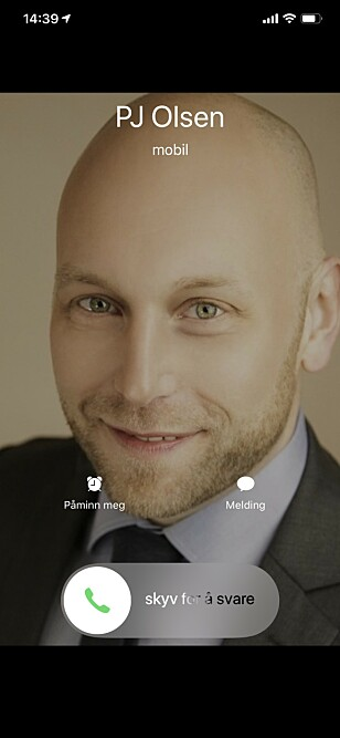RING, RING: Når folk ringer deg på iPhone, opptar anropet hele skjermbildet. Skjermbilde: Kirsti Østvang