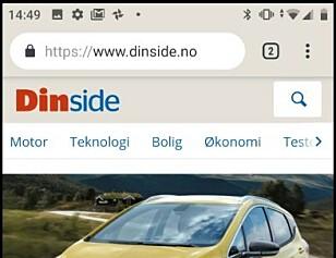 VARSLER PÅ TOPPEN: De små ikonene på toppen av skjermen er noe av det iPhone-brukere ønsker seg mest fra Android. Skjermbilde: Pål Joakim Pollen