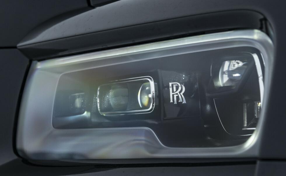 LASER: Laser lys med integrert tåkelys. Legg merke til RR logoen. Foto: Jamieson Pothecary