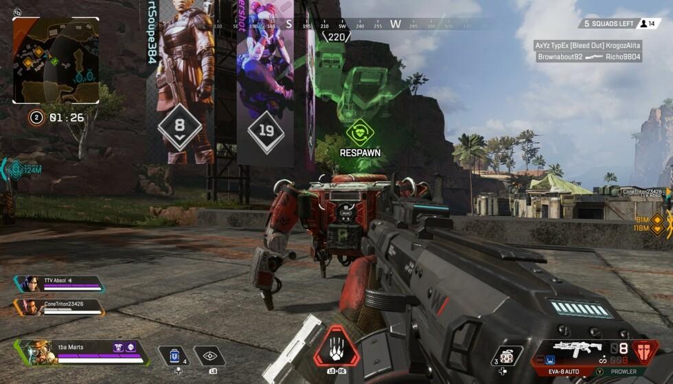 Du kan gjenopplive medspillerne dine ved en Respawn Station.