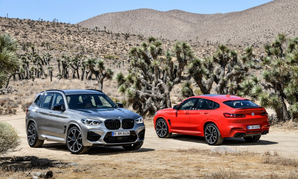 POTENT DUO: Til venstre ser vi nye BMW X3 M og til høyre X4 M. For første gang kommer disse modellene nå med de mest foredlede kraftpakkene fra M-divisjonen - og de kraftigste rekkesekserne noen gang. Foto: BMW