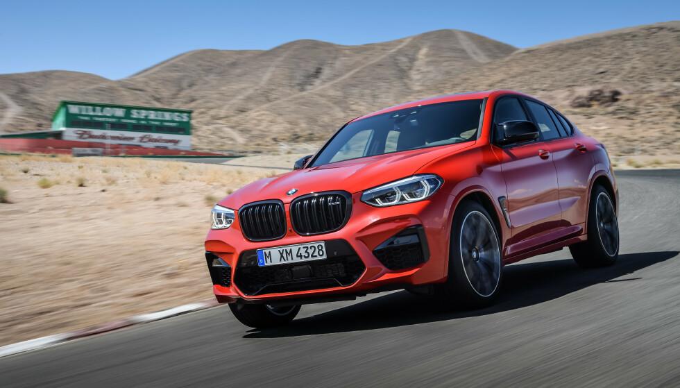 MER SPORTY: X4 M ser hakket mer troverdig ut som «sports-SUV», takket være sin coupé-fasong. Foto: BMW