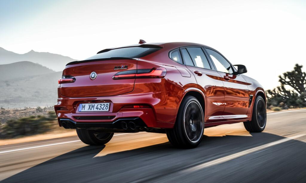 I M'TE POTENS: Nå har også BMW X4 fått den drivlinjen mange mente den fortjener. Foto: BMW