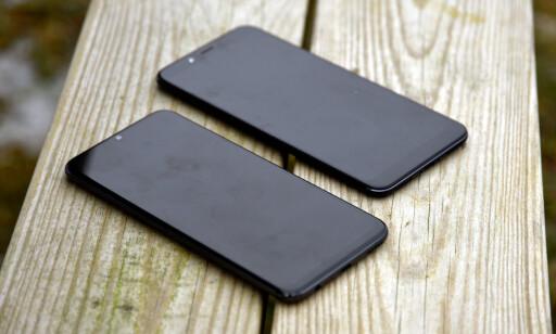 JEVNBYRDIG MASKINVARE: Det er små avvik når vi kjører ytelsestester på disse to telefonene, men på grunn av ekstra arbeidsminne og ren Android, føles Xiaomi-telefonen litt mer «snappy» i daglig bruk. Foto: Pål Joakim Pollen
