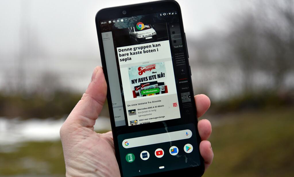 REN ANDROID: Foruten en ekstra app for å rapportere inn feilmeldinger til Xiaomi, er Android-utgaven helt lik den Google har på sine Pixel-telefoner. Foto: Pål Joakim Pollen