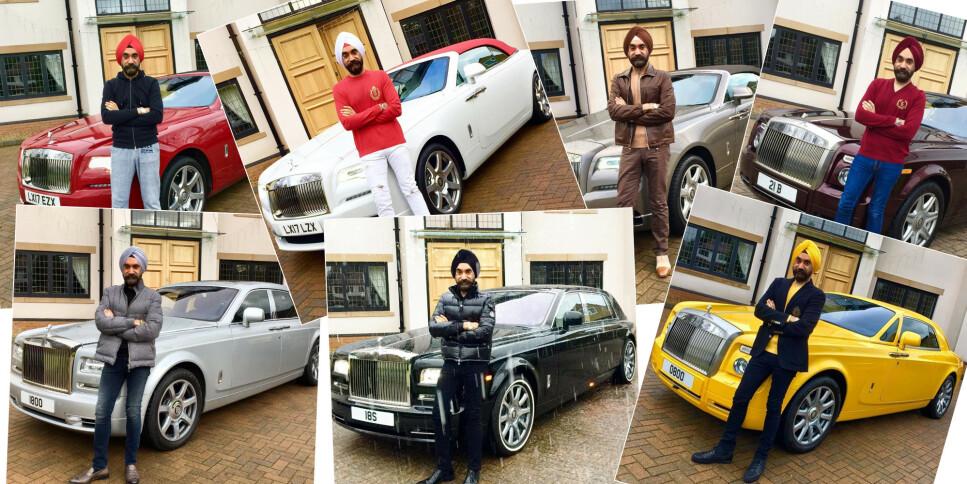 ÉN FOR HVER DAG: Den britiske milliardæren Reuben Singh samlet inn penger til veldedighet ved en sjudagers-utfordring på Instagram. Foto: Privat/Instagram