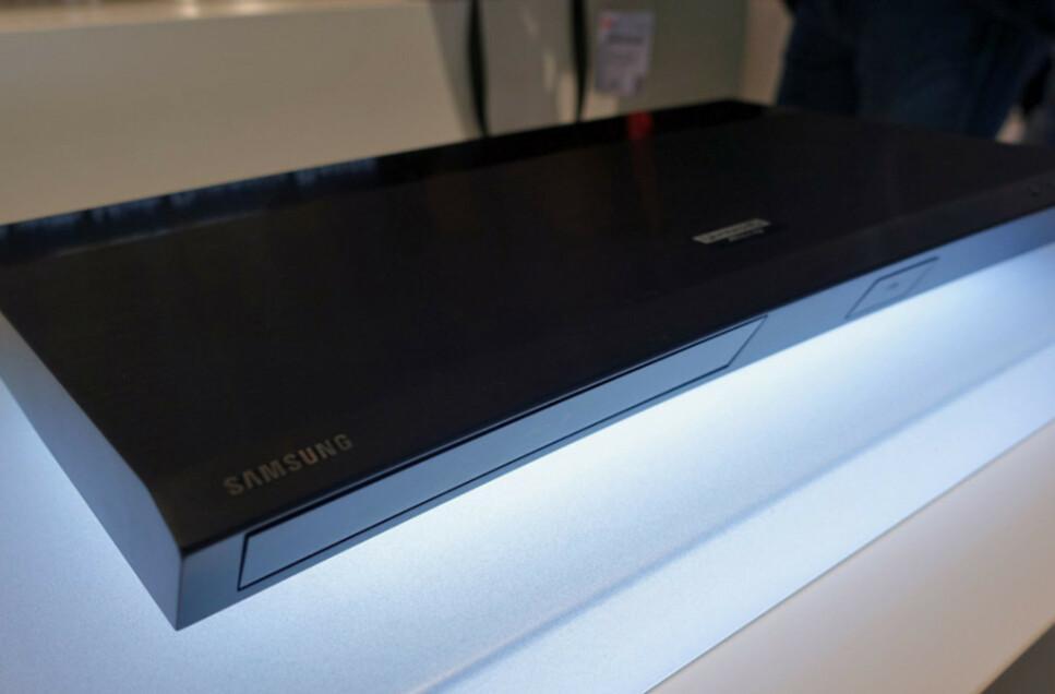 Samsungs første 4K Blu-Ray spiller het UBD-K8500, og ble lansert i Europa i begynnelsen av 2016. Foto: Øyvind Paulsen