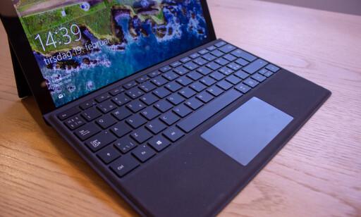 Tastaturet er godt å skrive på. Styreflaten er kanskje litt liten, men den gjør jobben. Foto: Martin Kynningsrud Størbu