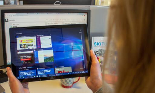 Som andre blanke skjermer, må du forvente litt gjenskinn. Foto: Martin Kynningsrud Størbu