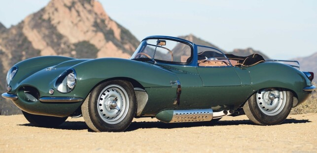 RACING GREEN: I Storbritannia er grønnfargen til blant annet Jaguar XKSS 57 en klassiker. Nå kommer grønt tilbake, mener designerne til Nissan. Foto: Jaguar