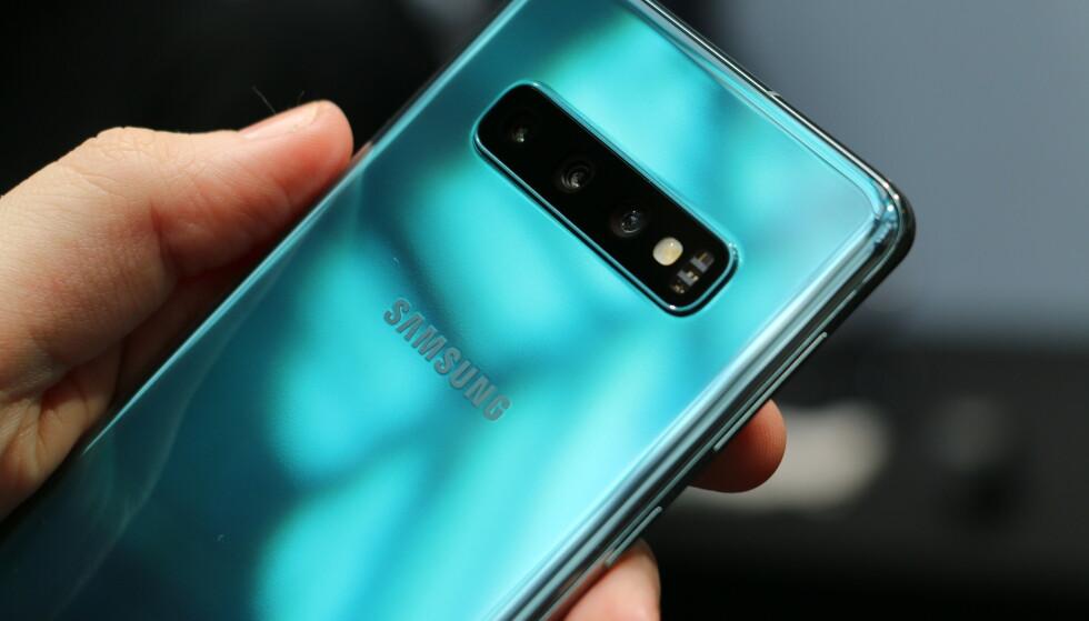 WOW: Her er vår favoritt blant årets Galaxy S-farger. Foto: Kirsti Østvang