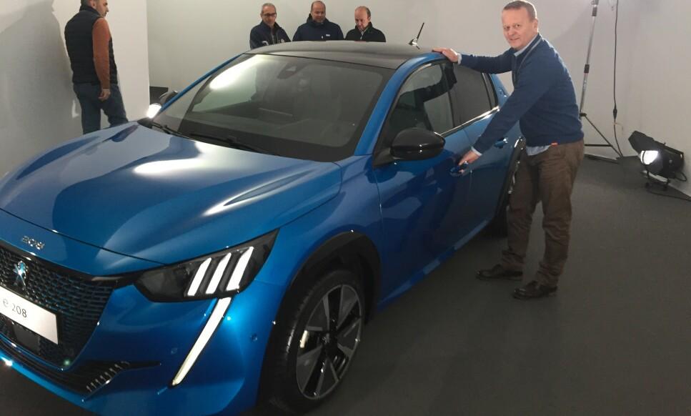 TØFFERE: Nye Peugeot 208 blir betydelig tøffere og litt større enn dagens utgave. Det viktigste er at den kommer som ren elbil. Foto: Peugeot
