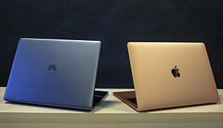 Huawei MateBook 13 mot Apple MacBook Air.
