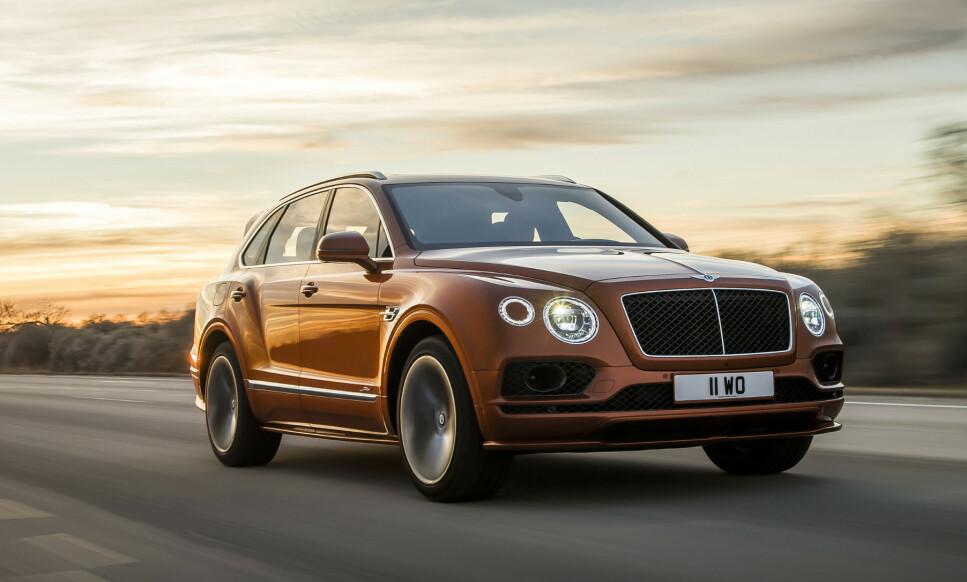 306 KM/T: Bentley Bentayga Speed blir offisielt den SUV-en i produksjon med høyest topphastighet. Men fra 0 til 100 blir den slått av en fyrrig italiener. Foto: Bentley