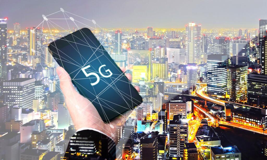 5G-UTBYGGING: Mobiloperatøren Ice bygger 5G-mobilnett i flere byområder i Norge. Foto: Shaynepplstockphoto/Shutterstock/NTB scanpix