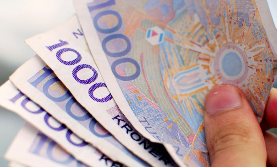FEIL BELØP: Kvinnen skulle ikke hatt pengene fa forsikringsselskapet. Likevel fikk hun beholde beløpet på nesten 50.000 kroner. Foto: NTB Scanpix