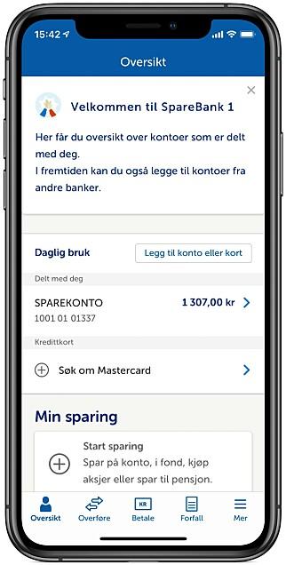 FOR ALLE: Snart kan du bruke Sparebank 1s nett- og mobilbank, selv om du ikke er kunde. Foto: skjermdump.
