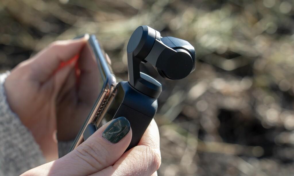 Batteritiden til Osmo Pocket er like god som DJI lover. Foto: Martin Kynningsrud Størbu