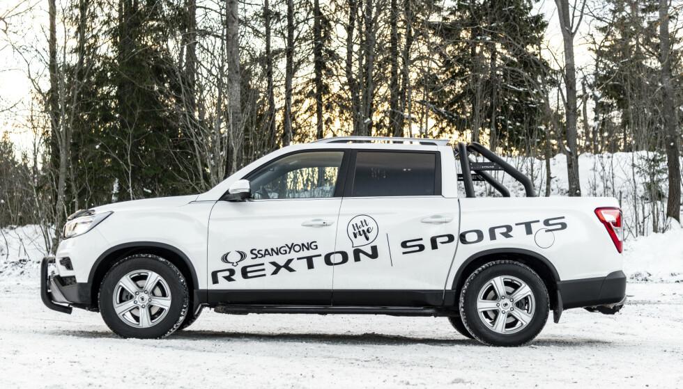 <strong>KLAR FOR ARBEID:</strong> Rexton Sports kan bestilles med større hjul og dekk. Det går litt utover kjørekomforten, men hever utseendet betraktlig. Foto: Jamieson Pothecary