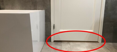 Treverket langs denne baderomsdøren er ekstra utsatt for problemet
