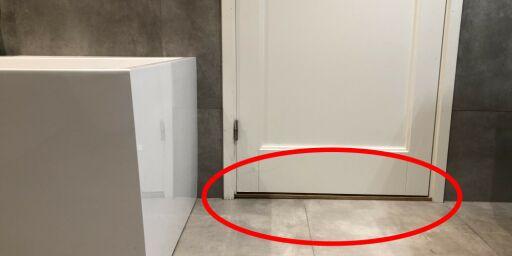 image: Treverket langs denne baderomsdøren er ekstra utsatt for problemet