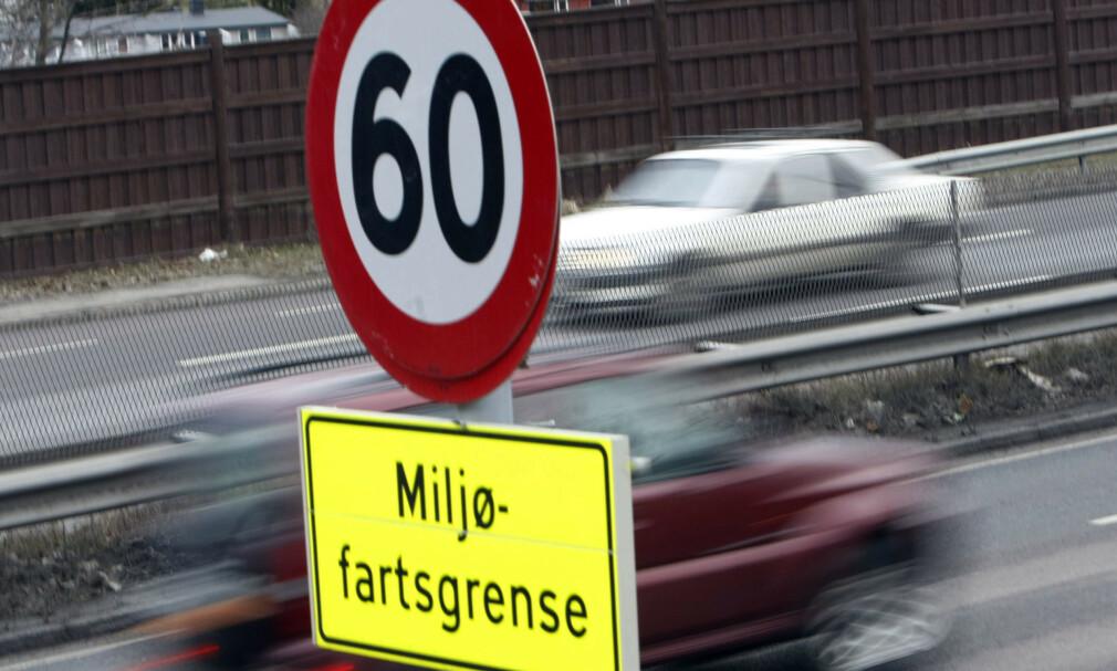 MILJØFARTSGRENSE: Fra førstkommende mandag gjeninnføres miljøfartsgrensen i Oslo. Foto: Morten Holm/NTB scanpix