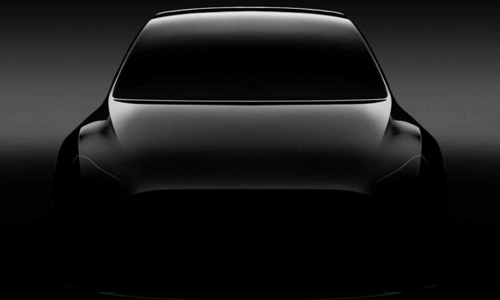 STØRRE ENN 3: SUV-en Model Y avdukes 14. mars og vil være tuftet på Tesla Model 3. Foto: Tesla