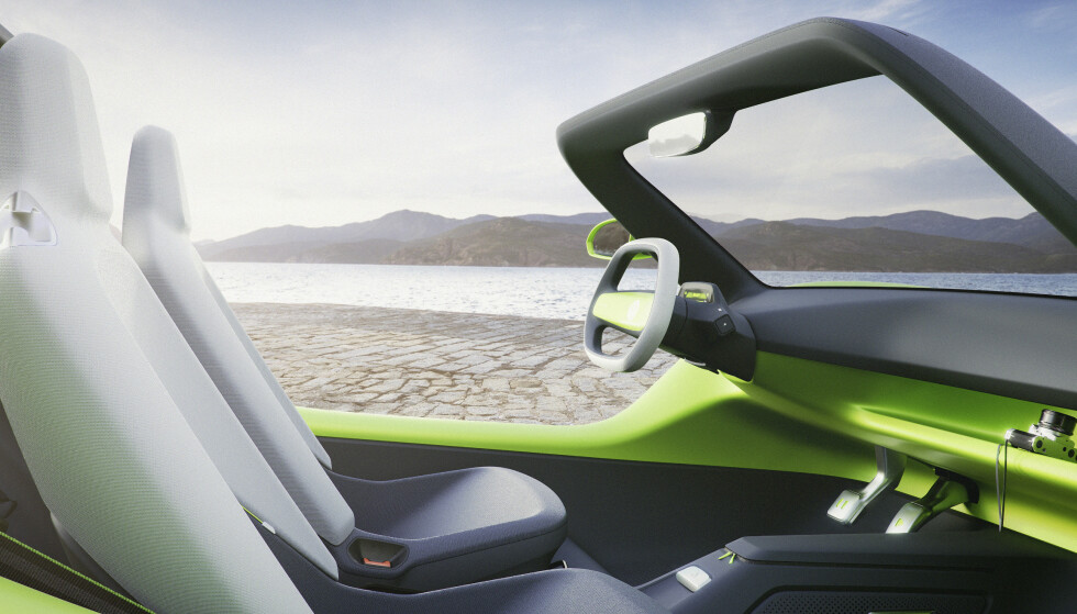 BILLIG: Dersom Buggy bygges, blir den enkelt og rimelig og kommer til å bli bygget av andre enn VW. Den elektriske plattformen er imidlertid den samme som i VWs andre elbiler. Foto: VW