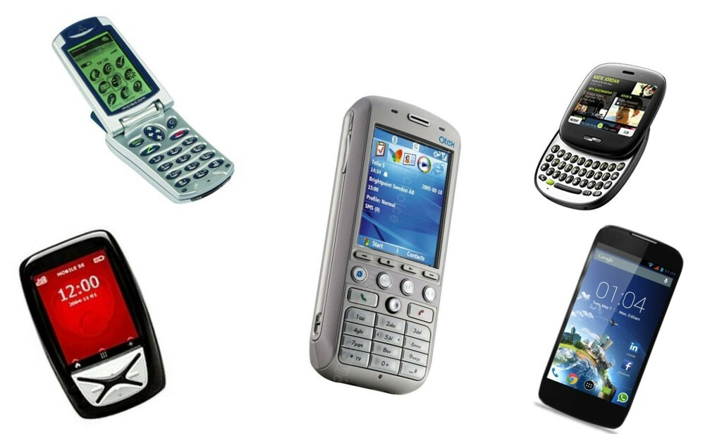 MOBILENE SOM FORSVANT: Husker du navnet på disse mobiltelefonene? Foto: Produsentene
