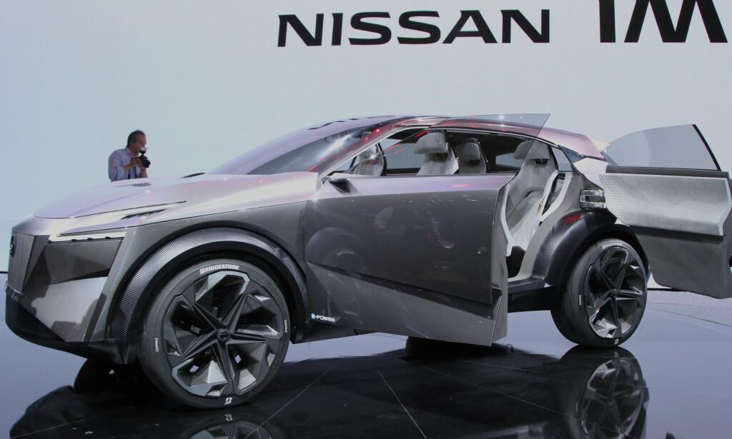 NY DESIGN: Dette blir trolig etterfølgeren til populære Nissan Qashqai. Utseendet blir neppe så ekstremt, men viser at trenden går mot en mer firkantet design. Foto: Rune Korsvoll