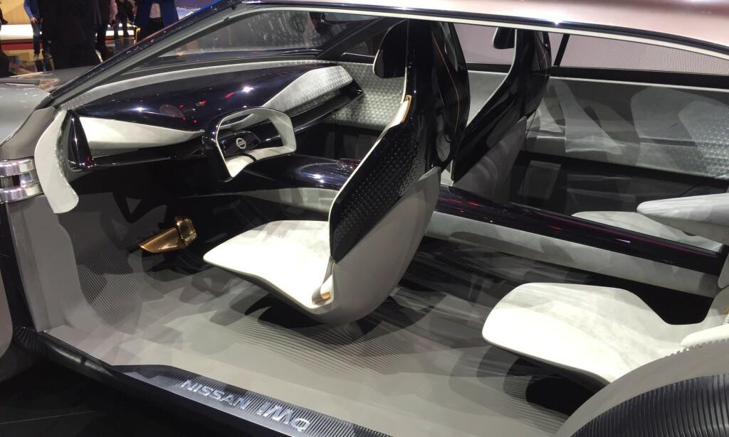 EKSTREMT KONSEPT: Konseptbilen IMQ har et ganske ekstremt interiør, som neppe finner veien i serieproduksjon. Foto: Rune Korsvoll