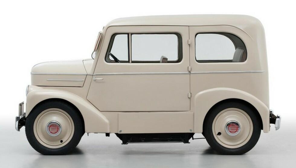 ELBIL A LA 1947: Allerede i 1947 lagde Nissan elbilen Tama for å bøte på drivstoff-mangelen i Japan. Foto: Nissan
