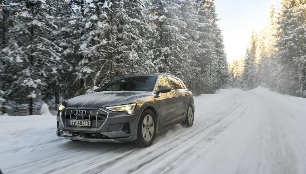 GODT I SIGET: Audi leverer nå jevnt og trutt av sin nye el-SUV e-tron, men i likhet med elbilmarkedet for øvrig, er tallet på nye registrerte biler ned i forhold til en svært god mars måned. Foto: Jamieson Pothecary