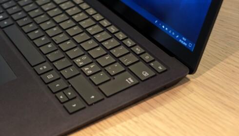 Surface Laptop 2-tastaturet er et av de beste på markedet. Her har Microsoft gjort en god jobb.