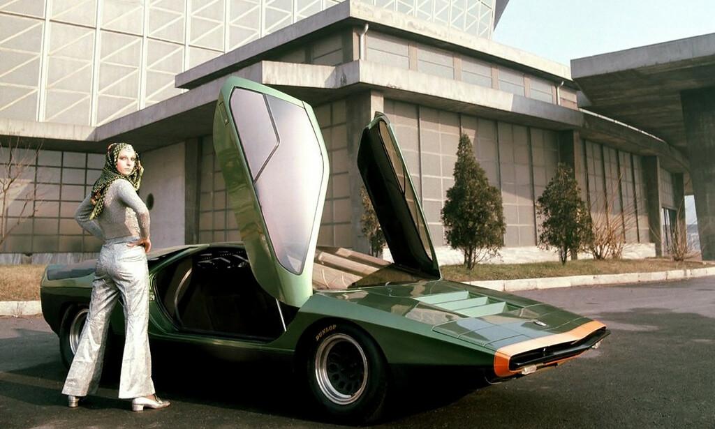 BILLE-BIL: Carabo var starten på kileformet biler. Navnet betyr bille på italiensk. Foto: Arkiv