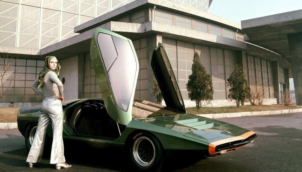 <strong>BILLE-BIL:</strong> Carabo var starten på kileformet biler. Navnet betyr bille på italiensk. Foto: Arkiv