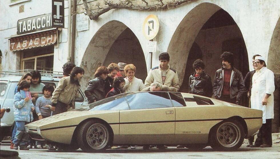 <strong>KAKESTYKKE:</strong> Skulle du bli lagt merke til på 70-tallet, gjaldt det å lage en bil med kileform. Vi tipper disse bilene hadde fått like mye oppmerksomhet i dag, 40 år etter. Foto: Lamborghini