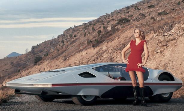 <strong>FORUT SIN TID:</strong> Ferrari Modulo ser fortsatt ut som en bil fra en annen planet nesten 50 år etter den ble vist. Foto: Ferrari