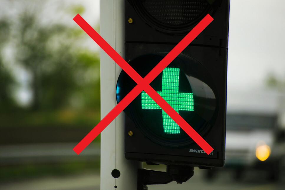 FJERNES: Lyssignalene ved bomstasjoner fjernes. Alle lysene slukkes samtidig over hele landet, 6. april. Foto: Vegdirektoratet