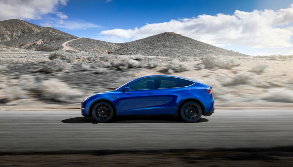 TESLA MODEL Y: Teslas neste elbil kommer i løpet av 2021. Illustrasjon: Tesla